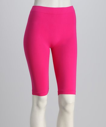 Fuchsia Bike Shorts Set - Women