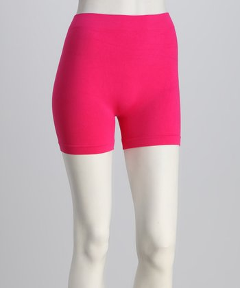 Fuchsia Elastic Shorts Set - Women