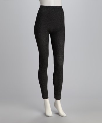 Obsidian Ribbed Knit Leggings Set - Women