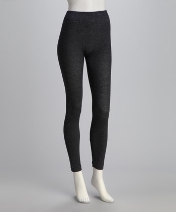 Navy Knit Leggings Set - Women