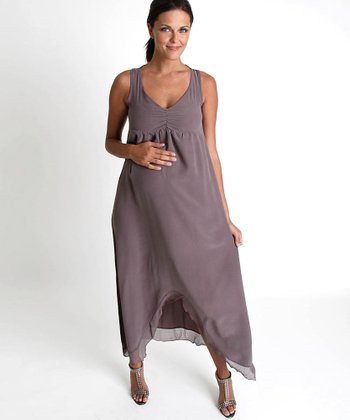 Nuka Cocoa Sydney Maternity Maxi Dress