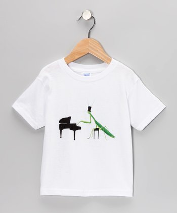 White Playing Mantis Tee - Toddler & Boys