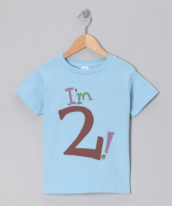 Light Blue Personalized Age Tee - Toddler