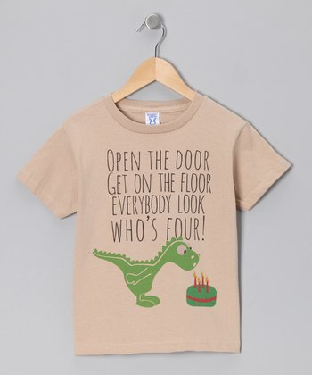 Stone 'Looks Who's Four' Tee - Toddler & Kids