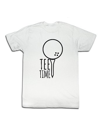 White 'Tee Time' Golf Tee - Toddler & Kids