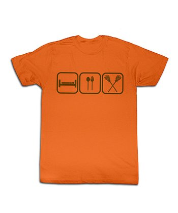 Orange Eat Sleep Lacrosse Tee - Toddler & Kids