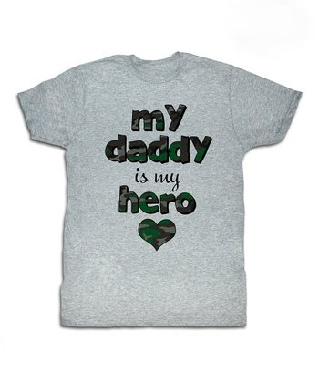 Heather Gray 'My Daddy Is My Hero' Tee - Toddler & Kids