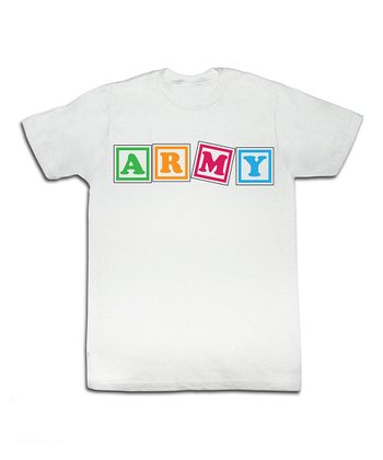 White Army Blocks Tee - Toddler & Kids