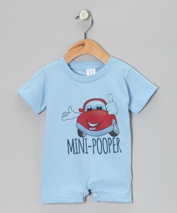Light Blue 'Mini-Pooper' Romper - Infant
