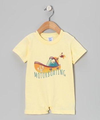 Banana 'Motorboating' Romper - Infant