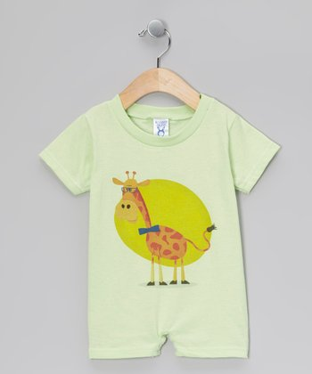Key Lime Giraffe Romper - Infant