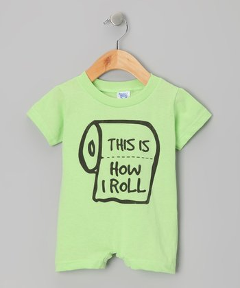 Key Lime 'How I Roll' Romper - Infant