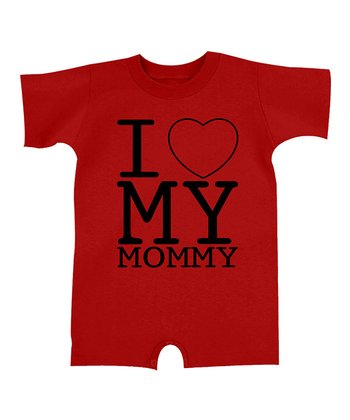Red 'I Love My Mommy' Romper - Infant