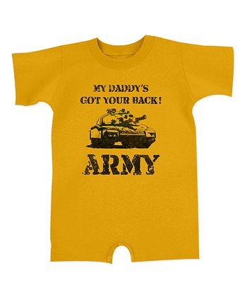 Gold 'My Daddy's Got Your Back' Romper - Infant