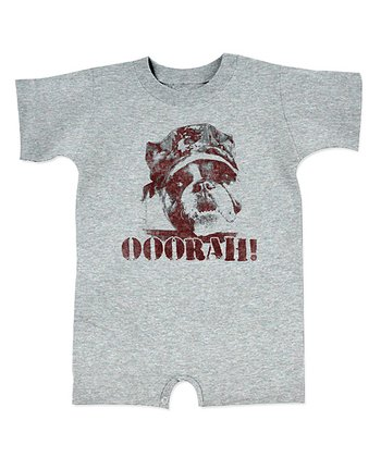 Heather Gray 'Ooorah!' Dog Romper - Infant