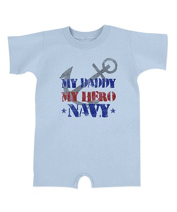 Light Blue 'My Daddy My Hero' Romper - Infant