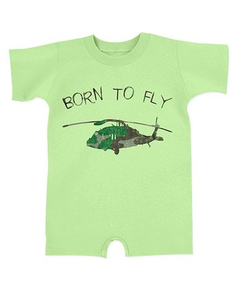 Mint 'Born To Fly' Romper - Infant