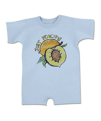 Light Blue 'Just Peachy' Romper - Infant