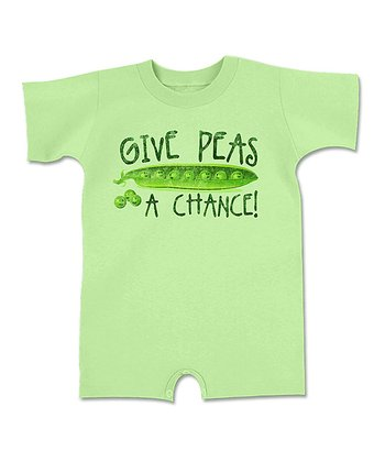 Key Lime 'Give Peas a Chance!' Romper - Infant