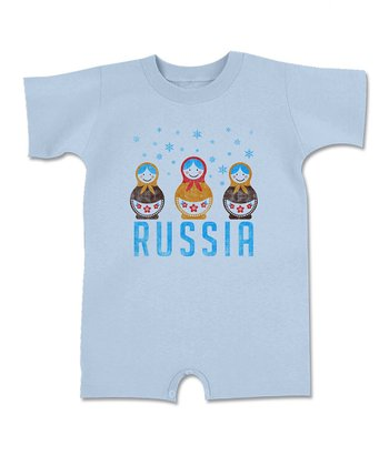 Light Blue 'Russia' Romper