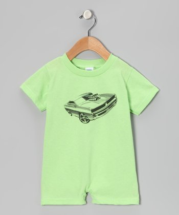 Key Lime Muscle Car Romper - Infant