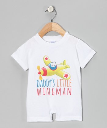 White 'Wingman' Romper - Infant