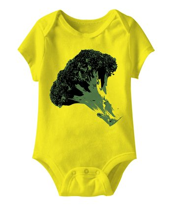 Yellow Broccoli Bodysuit - Infant