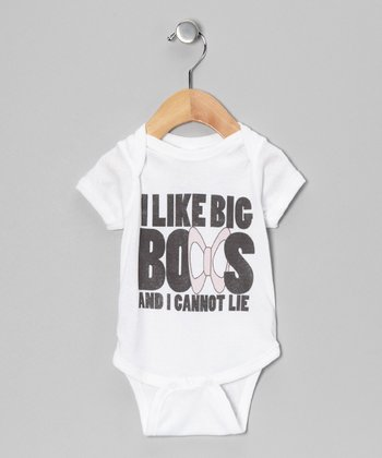 White 'I Like Big Bows' Bodysuit
