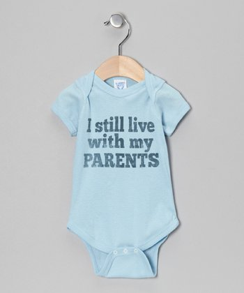Light Blue 'Live With My Parents' Bodysuit - Infant