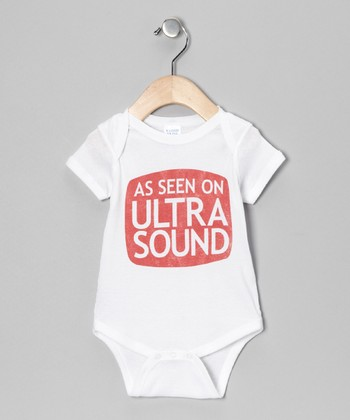 White 'Ultra Sound' TV Bodysuit - Infant