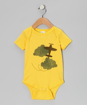 Yellow Up in the Air Bodysuit - Infant