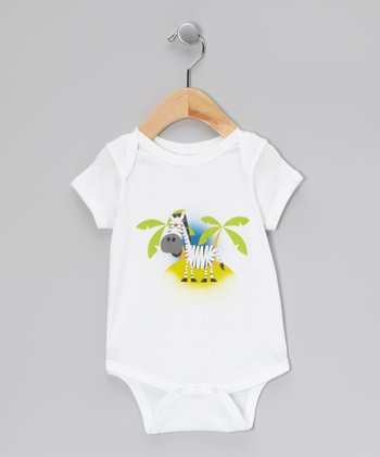 White Zebra Bodysuit - Infant