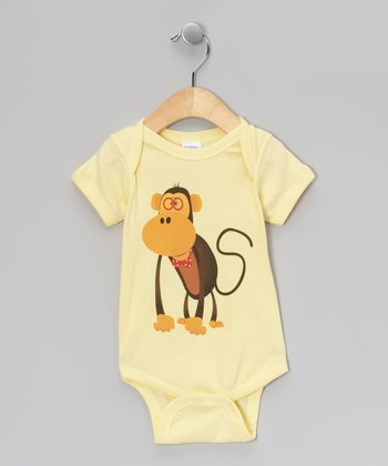 Banana Monkey Bodysuit - Infant