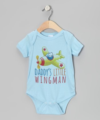 Light Blue 'Wingman' Bodysuit - Infant