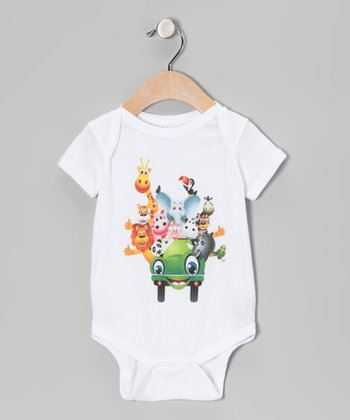 White Party Wagon Bodysuit - Infant