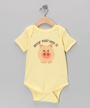 Banana 'Gettin' Piggie With It' Bodysuit - Infant