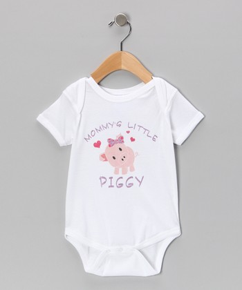 White 'Mommy's Little Piggy' Bodysuit - Infant
