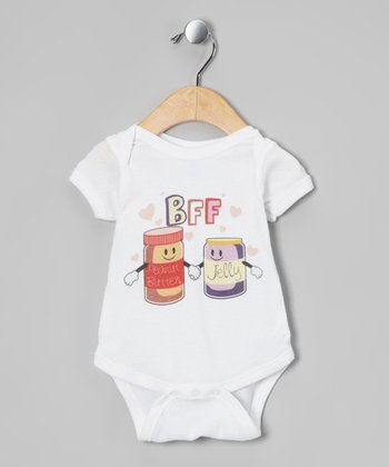 White PB&J Besties Bodysuit - Infant