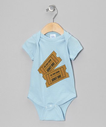 Light Blue 'Admit One' Bodysuit - Infant