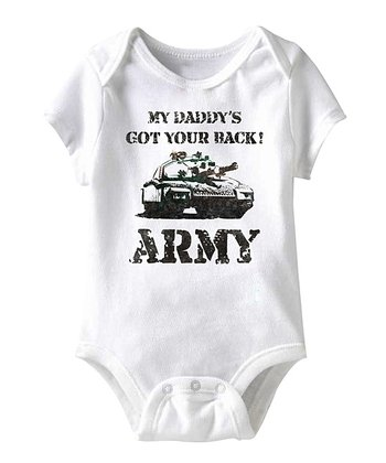 White 'My Daddy's Got Your Back' Bodysuit - Infant