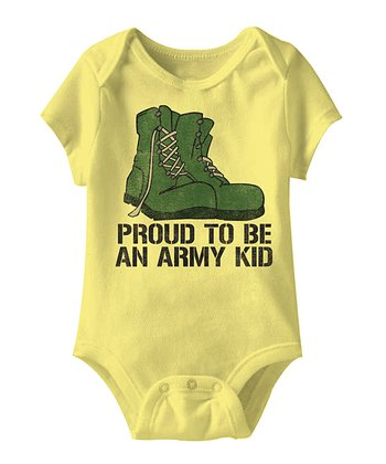 Banana 'Proud To Be An Army Kid' Bodysuit - Infant