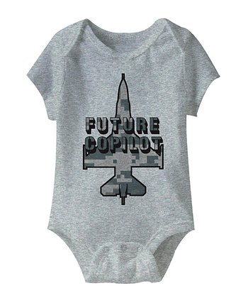 Gray 'Future Copilot' Bodysuit - Infant