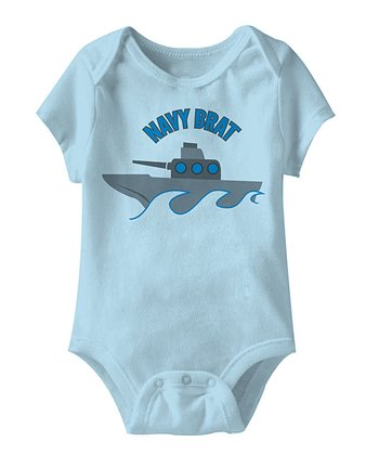 Light Blue 'Navy Brat' Bodysuit - Infant