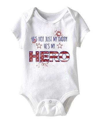 White 'He's My Hero' Star Bodysuit - Infant