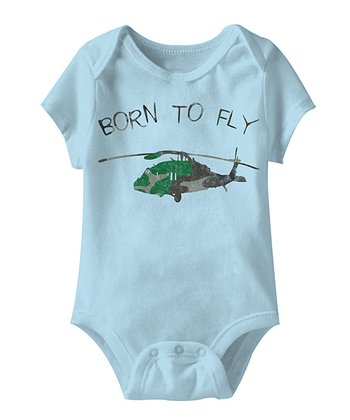 Light Blue 'Born To Fly' Bodysuit - Infant