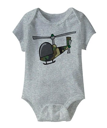 Gray Helicopter Bodysuit - Infant