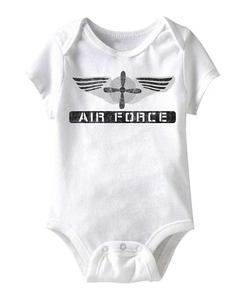 White 'Air Force' Bodysuit - Infant