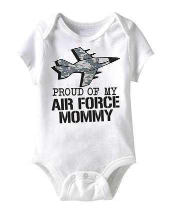 White 'Proud of My Air Force Mommy' Bodysuit - Infant