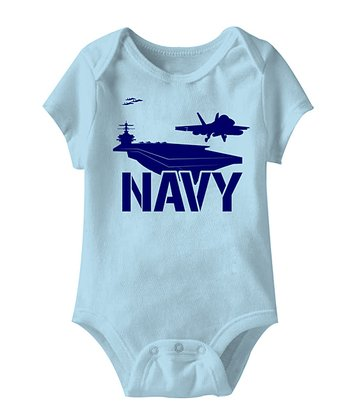Light Blue 'Navy' Bodysuit - Infant