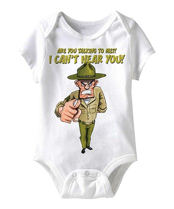 White 'I Can't Hear You' Bodysuit - Infant